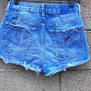 Zara Shorts You Look Pretty When You Are Happy SZ2